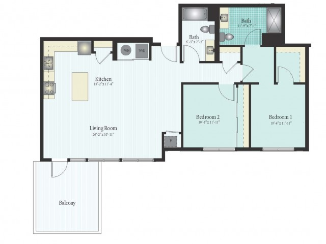 Floor Plan 50 | Glenview IL Apartments | Midtown Square
