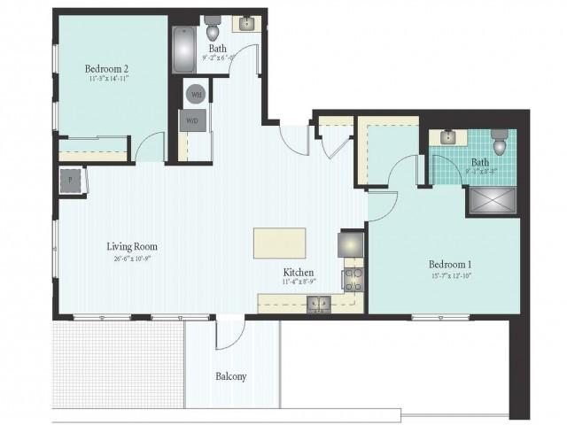 Floor Plan 54 | Glenview IL Apartments | Midtown Square