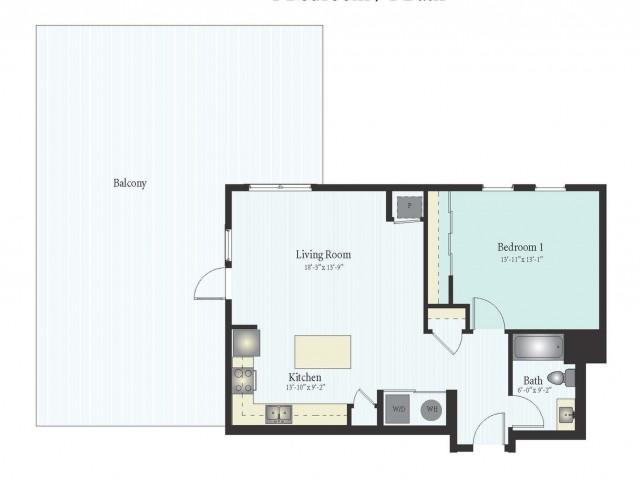 Floor Plan 6 | The Glen Apartments Glenview IL | Midtown Square