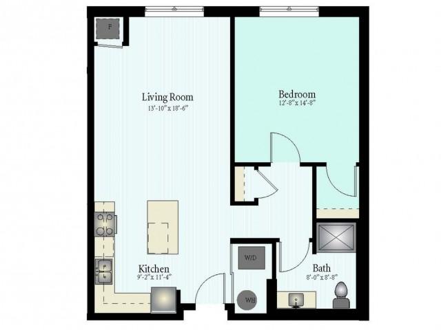 Floor Plan 20 | 1 Bed 1 Bath Floor Plan The Northfield 5