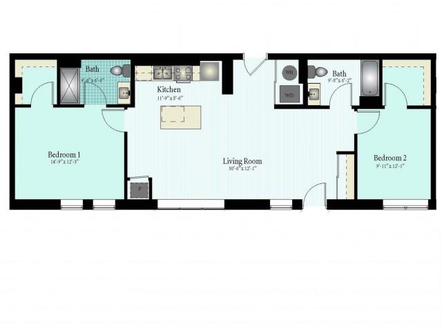 Floor Plan 48 | Glenview IL Apartments | Midtown Square