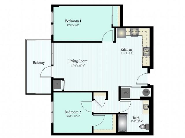 Floor Plan 51 | Glenview IL Apartments | Midtown Square