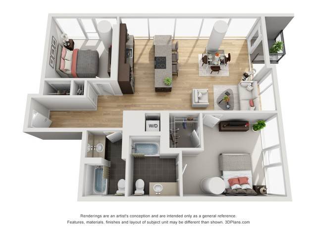 For The 2 Bedroom Penthouse Floor Plan.