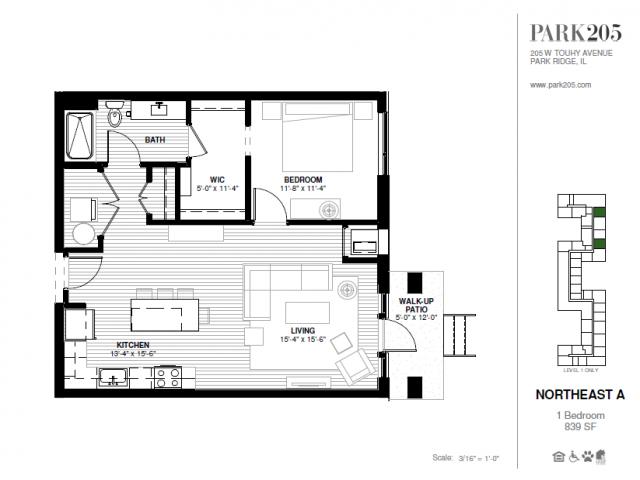 One Bedroom - Northeast A Floor Plan