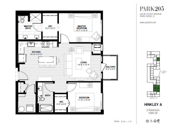 Two Bedroom - Hinkley A Floor Plan