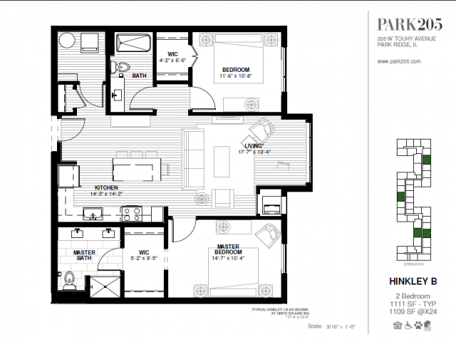 Two Bedroom - Hinkley B Floor Plan