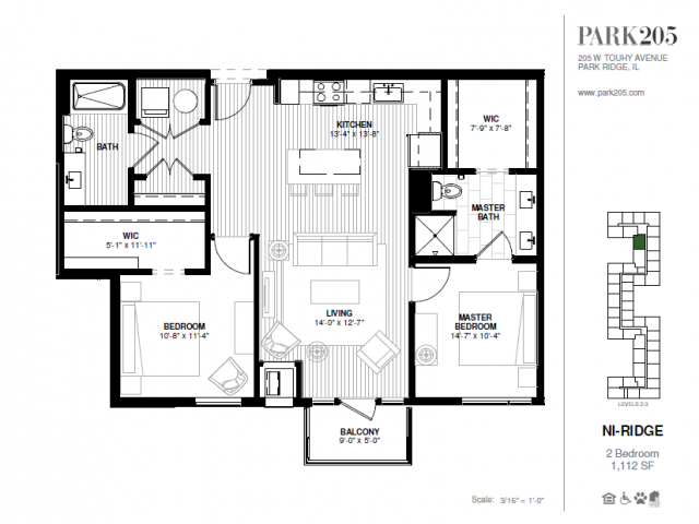 Two Bedroom - Ni-Ridge Floor Plan