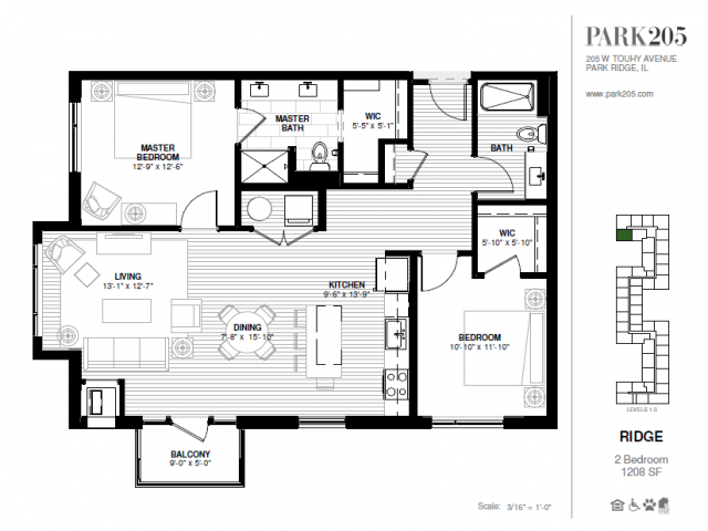 Two Bedroom - Ridge Floor Plan