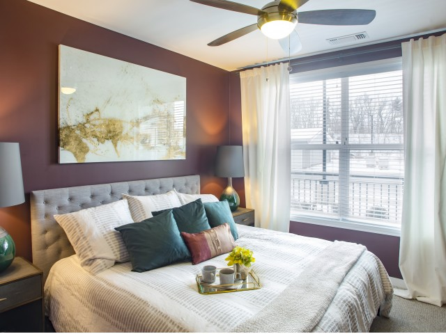 Bedroom | apartments for rent castle shannon pa | The Ashby at South Hills Village Station