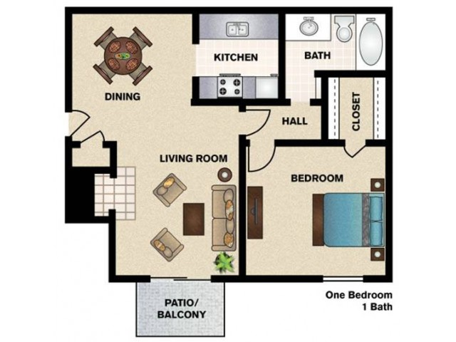 One Bedroom/One Bathroom