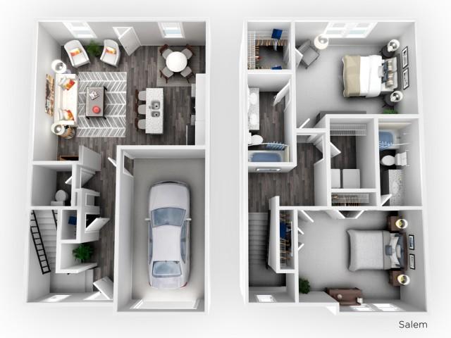 Salem- 2 Bedroom | 2.5 Bathroom