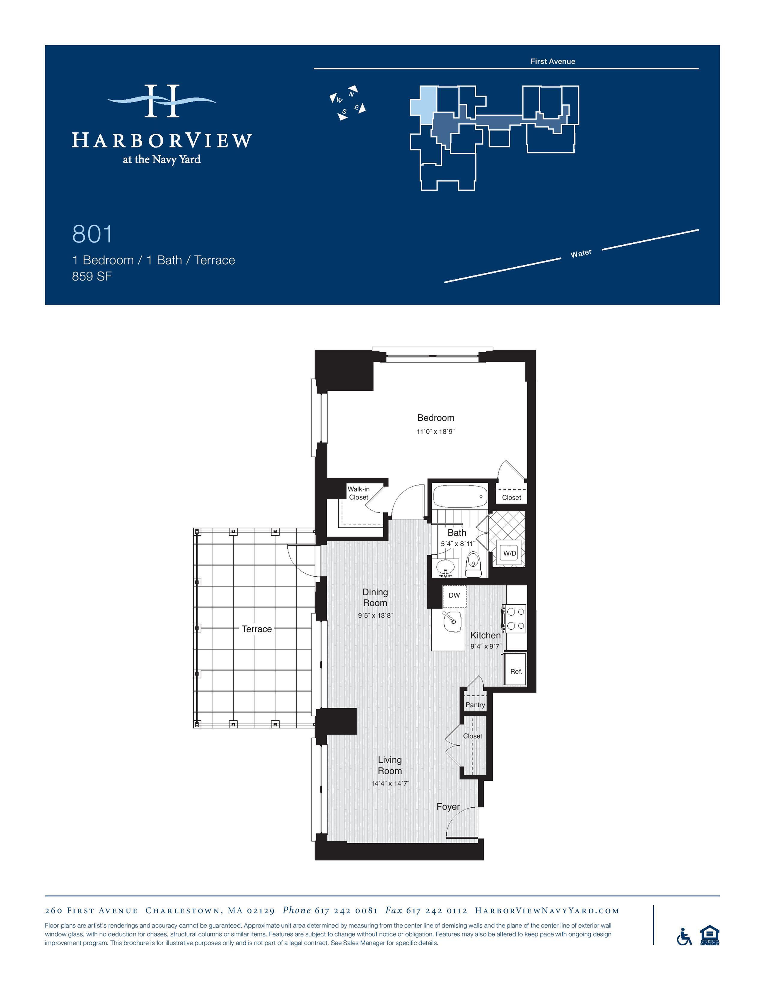 #801. Apartment has ADA modifications.