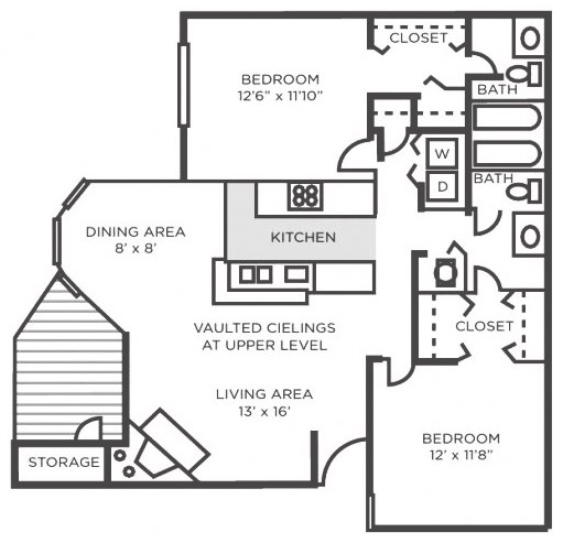 Willow- Two Bedroom Two Bathroom