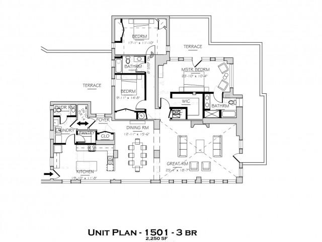 1501 SF Penthouse