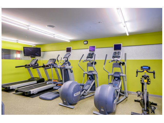 Fitness Center with treadmills and bikes