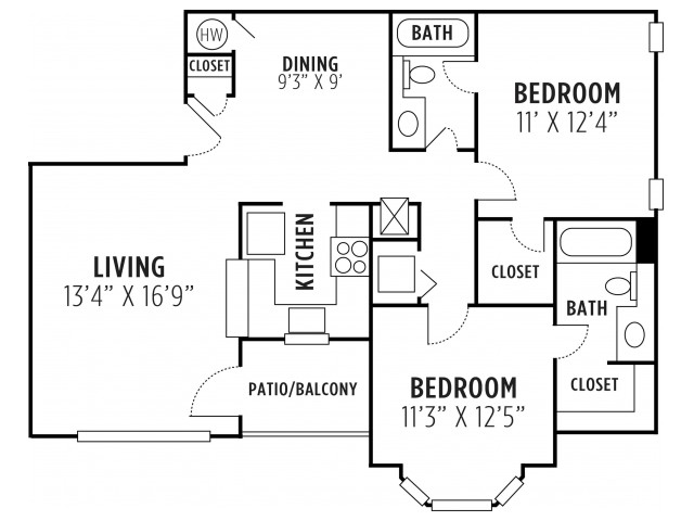 Two Bedroom Two Bath Apartment Lithia Springs GA