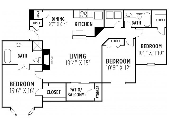 Three Bedroom Two Bath Apartment Lithia Springs, GA