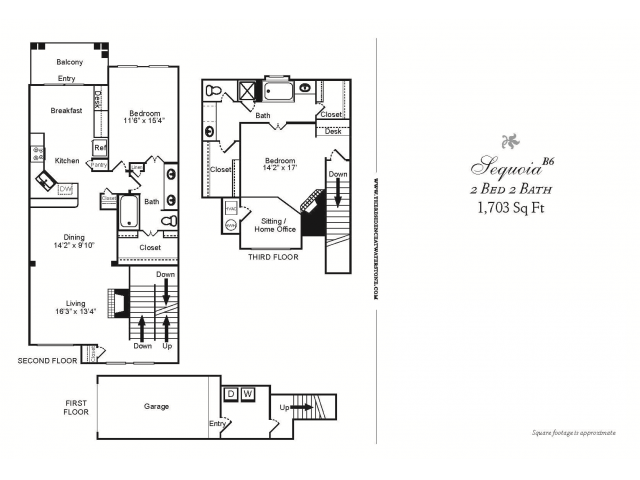 B6 CLASSIC-2 BEDROOM TOWN-HOME STYLE 2 BATHROOM