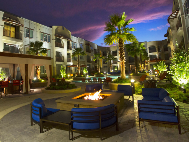 Image of Outdoor Fireplace and Seating for The Fields Woodlake Square