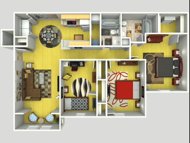 3 Bedroom | 2 Bedrooms