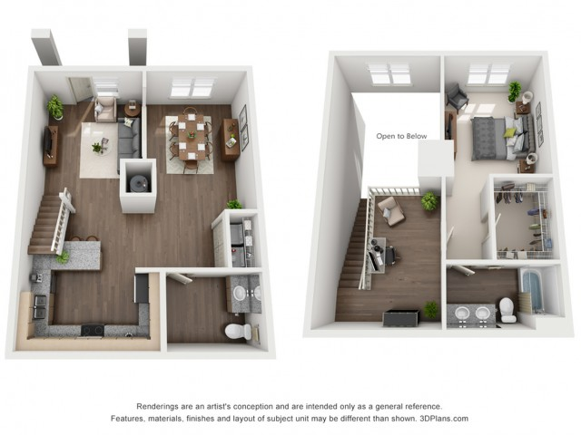 Giorgio Loft 1202 Square Feet One Bedroom Loft | One and a. Half Bathroom