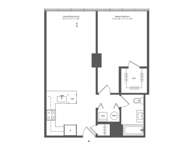 1A1-ONE BEDROOM ONE BATH
