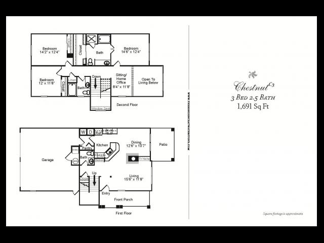 3 Bedroom TH/2 Car Garage