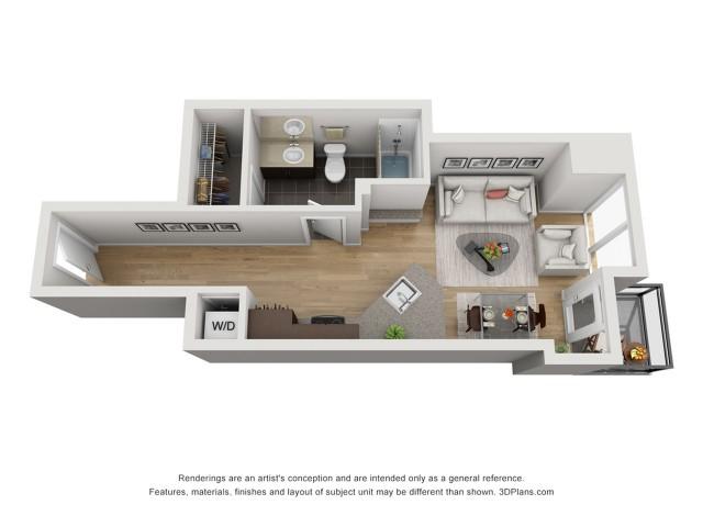 Studio Floor Plan stj