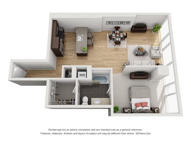1 Bedroom 906sqft