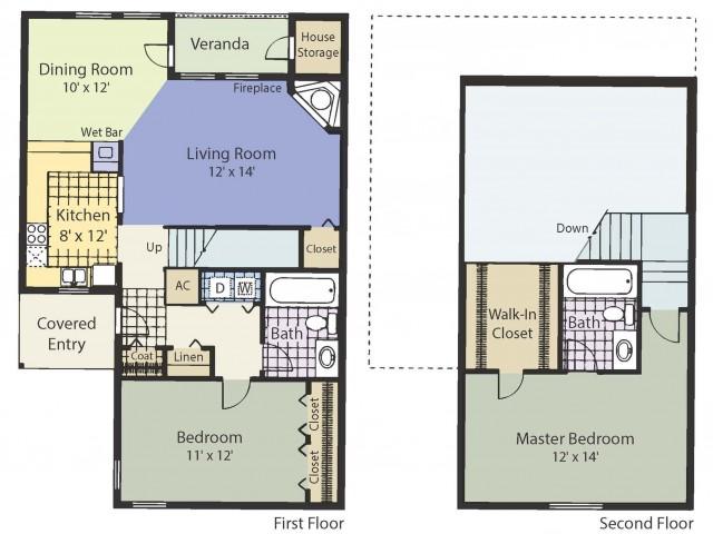 B2T 1157 Square Feet Two Bedroom | Two Bath