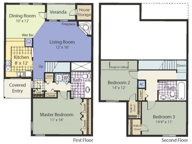 C2T 1337 Square Feet Three Bedroom | Two Bath