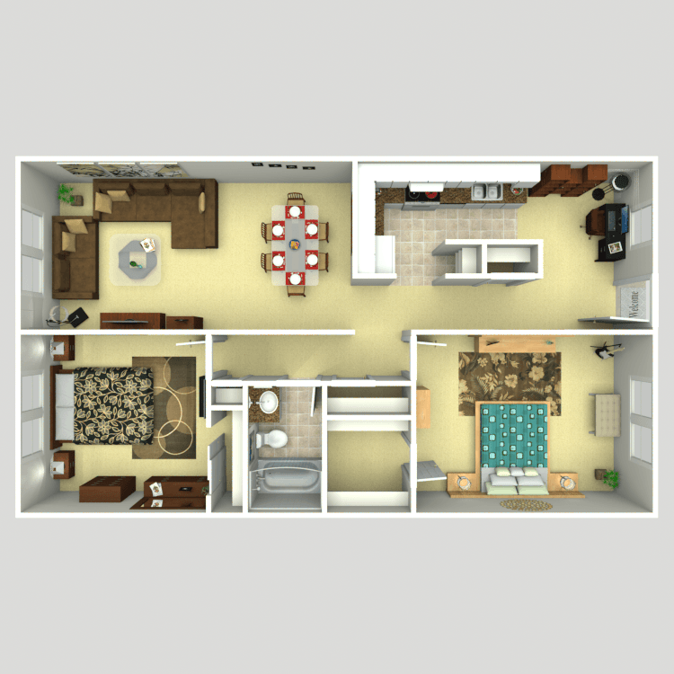 two bedroom a