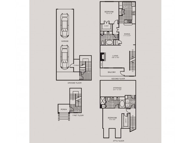 Two Bedrooms/Two Bathrooms