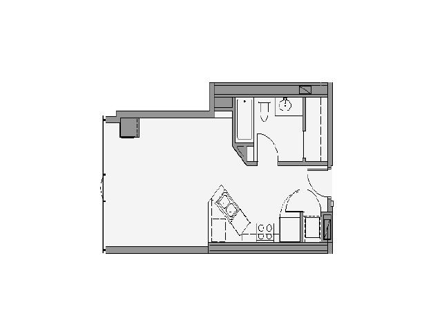 08 Tier Studio- 496 Sq Ft