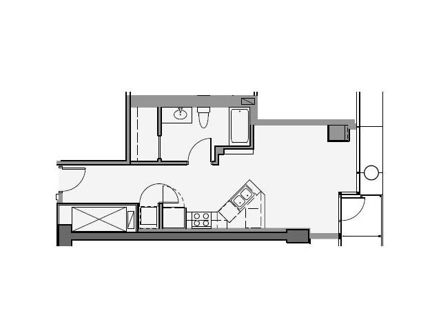Studio Floor Plan stc