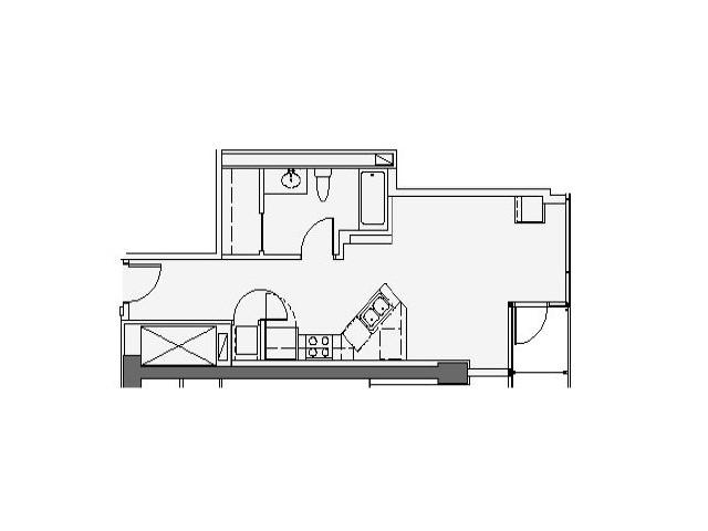 07 Tier Studio 603 Sq Ft