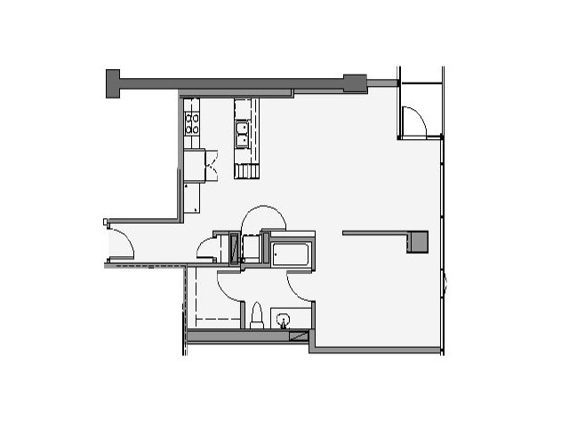 09 1 Bed + Den 926 Sq Ft