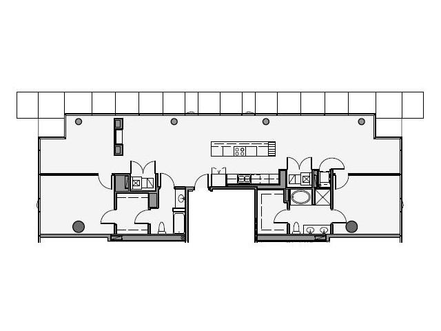 2 Bed 2 Bath Floor Plan 2p1