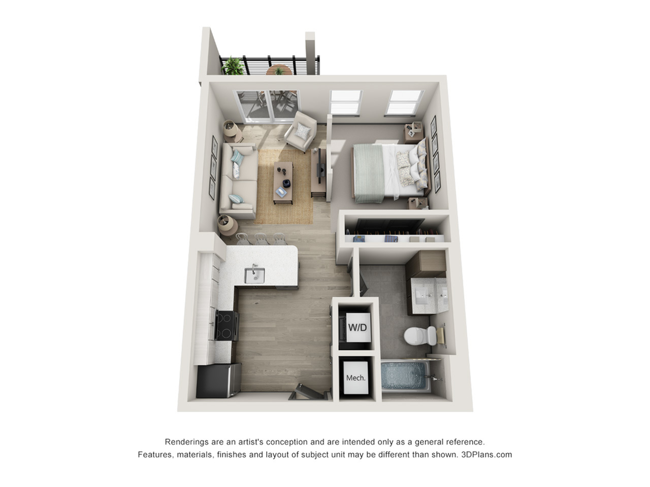 Bellaire S1 Studio Floor Plan