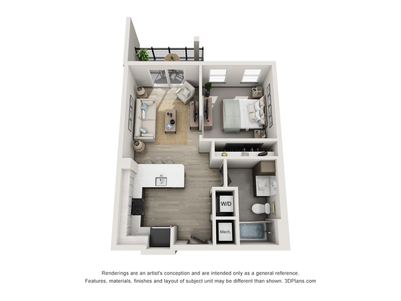 Caladesi Island S2 Studio Floor Plan