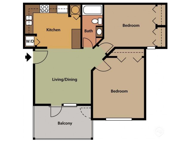 Two Bedroom - One Bath Upgrade
