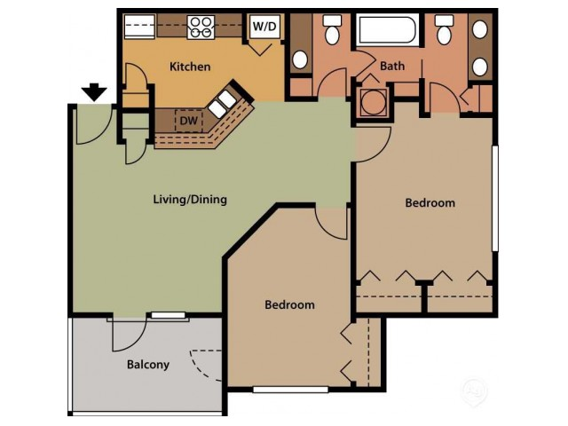 Two Bedroom - One and a Half Bath