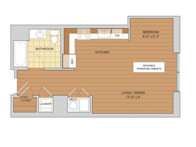 Studio Floor Plan S2