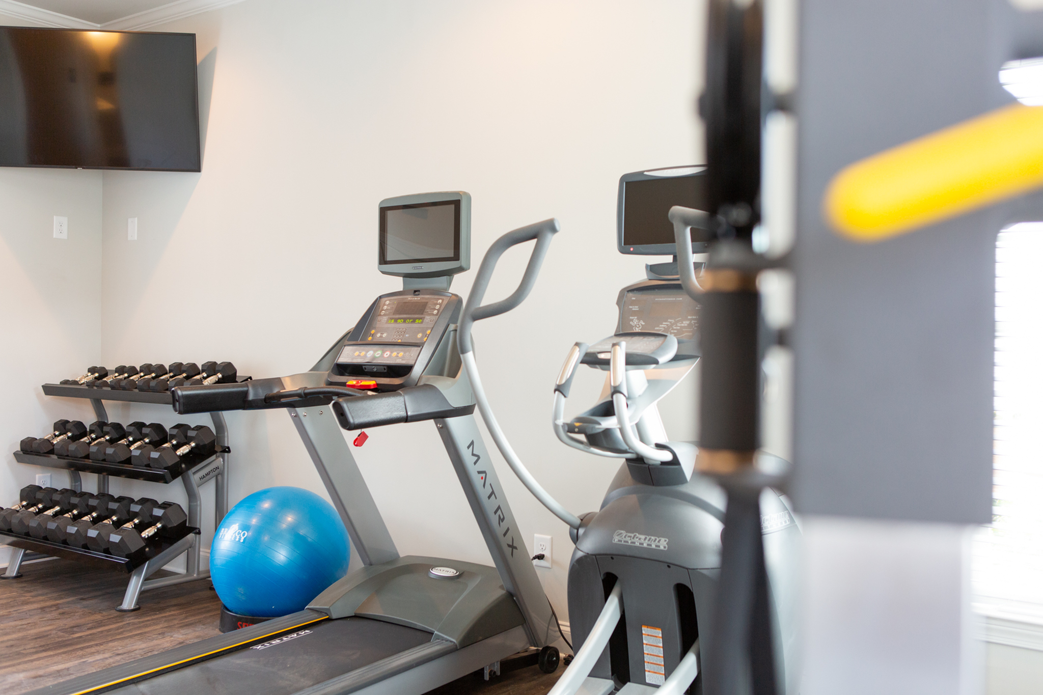 Gym with state of the art equipment