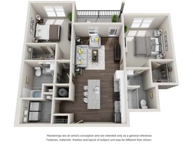 Halifax 1031 Square Feet Two Bedroom | Two Bathroom