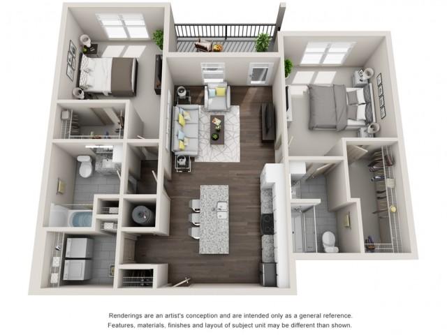 Tarpon 1064 Square Feet Two Bedroom | Two Bathroom