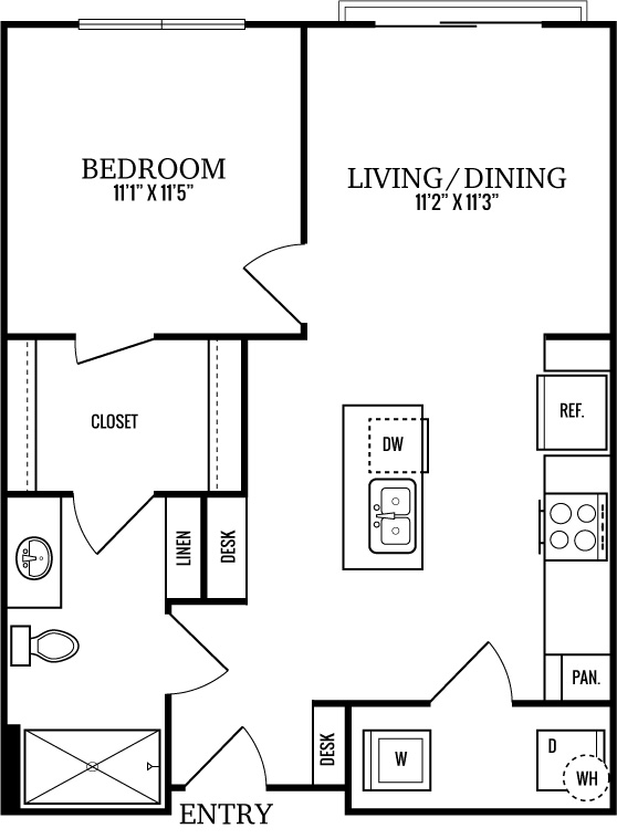 A0 1 Bedroom 1 Bath
