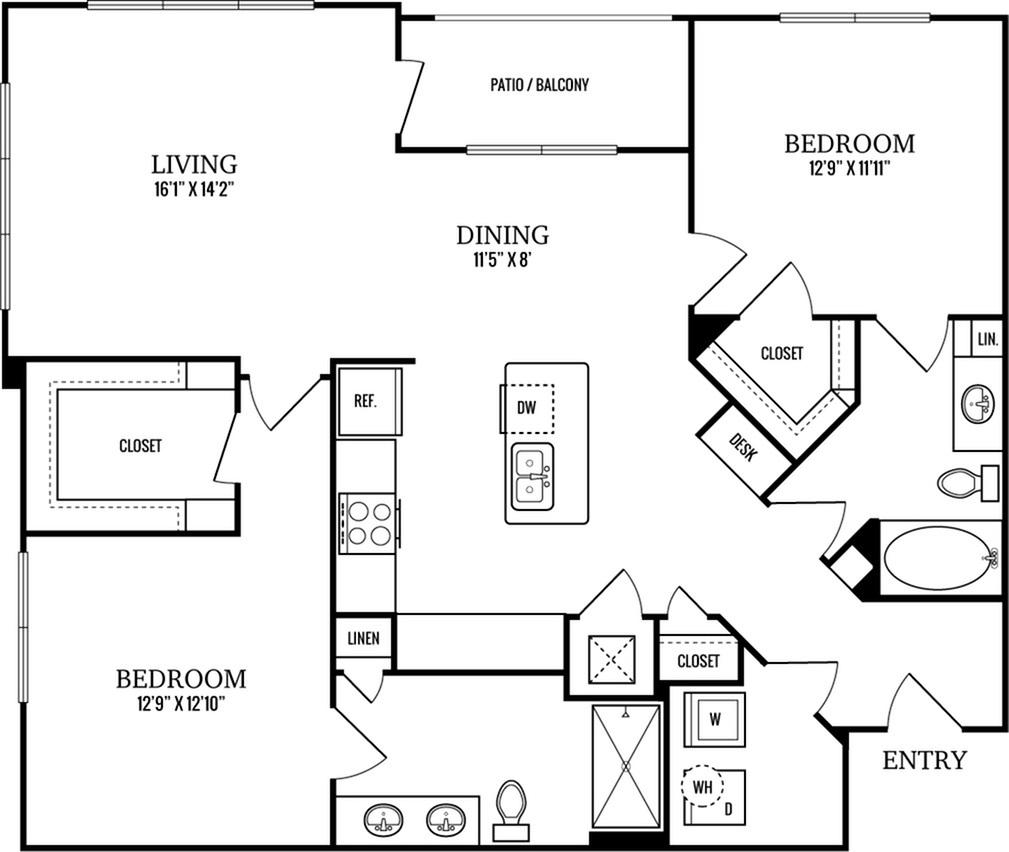 B3 2 Bedroom 2 Bath