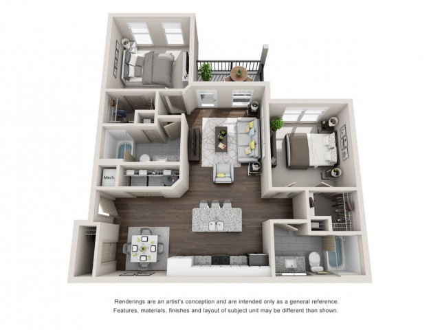 Mangrove 1074 Square Feet Two Bedroom | Two Bathroom