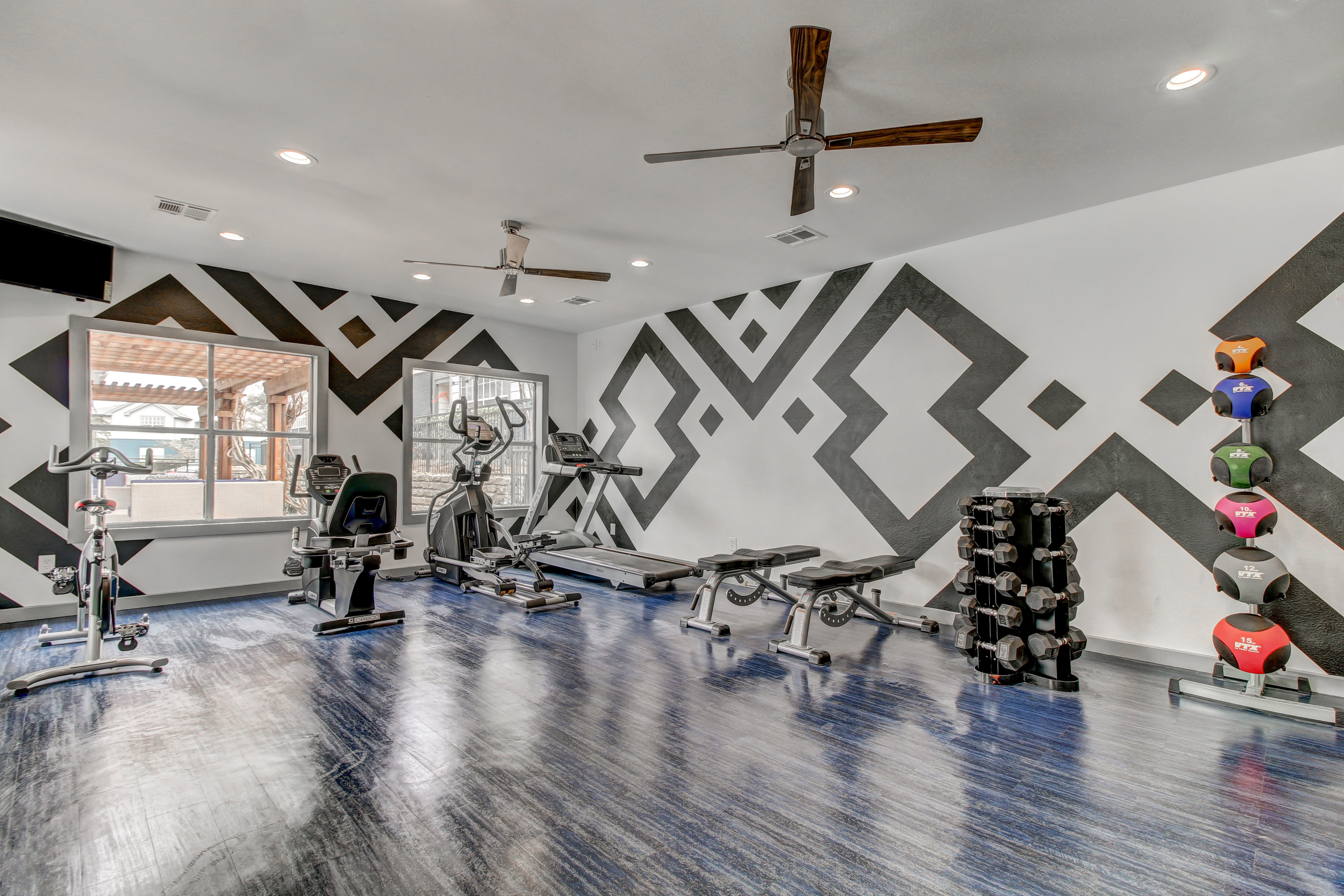 Fully Equipped Fitness Center with cardio machines